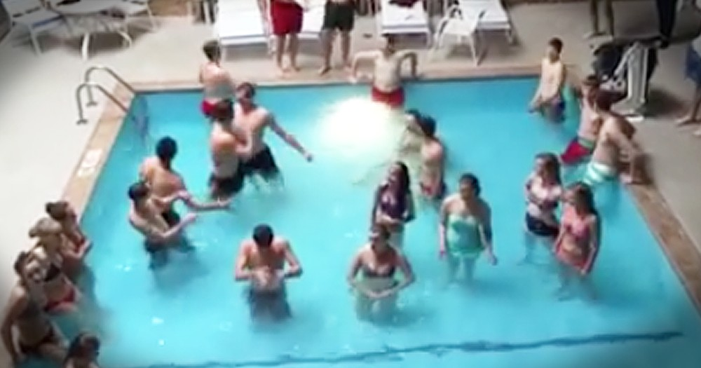 Choir Students Impromptu Performance Of 'O Day Full of Grace' In A Pool Is Incredible
