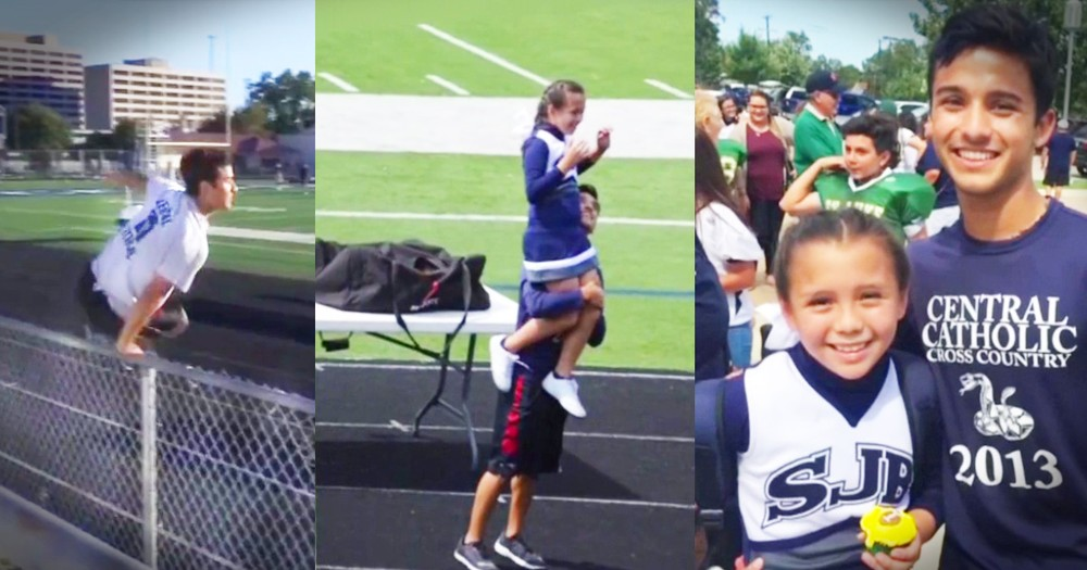 High School Senior Stepped In For A Little Girl's Hero Dad And Everybody's Smiling