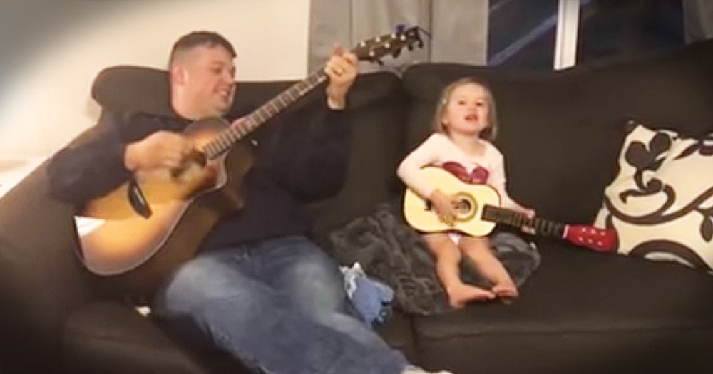 Daddy Daughter Sing The Most Adorable 'You Are My Sunshine' Duet