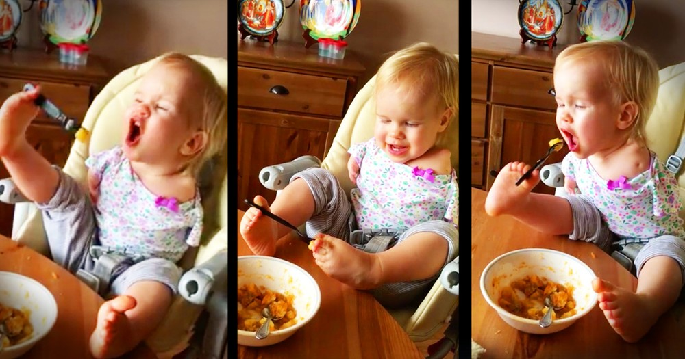 This Toddler May Not Have Arms But That's Not Keeping Her Down