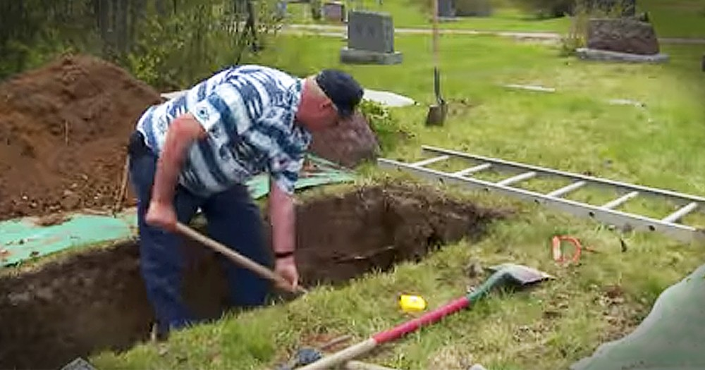 Grave Digger In Small Town Shares His God-Given Talent And Story