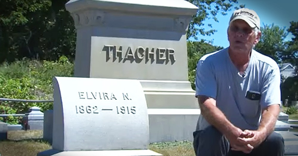 Man Spends Years Cleaning Up The Headstones Of Strangers In Cemetery
