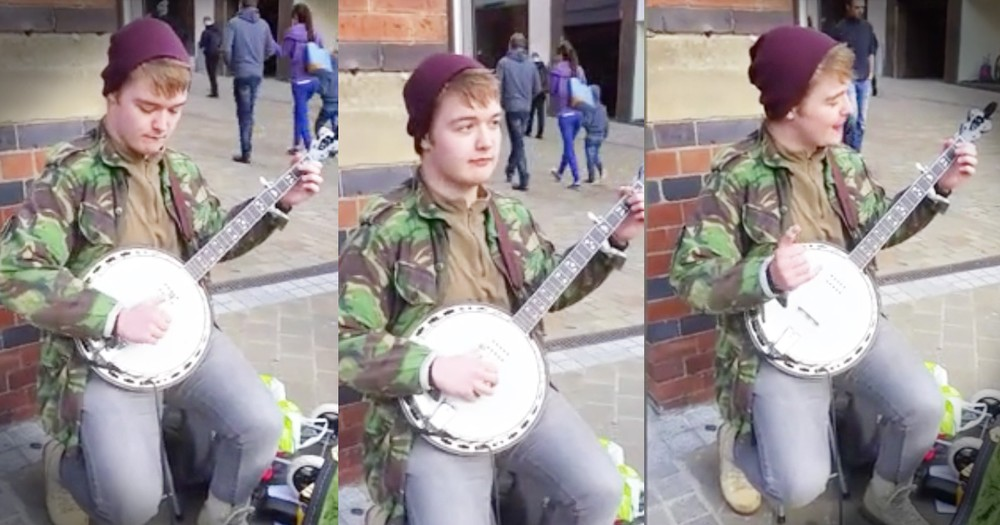Guy Blows Our Minds Playing Both Parts Of 'Dueling Banjos'
