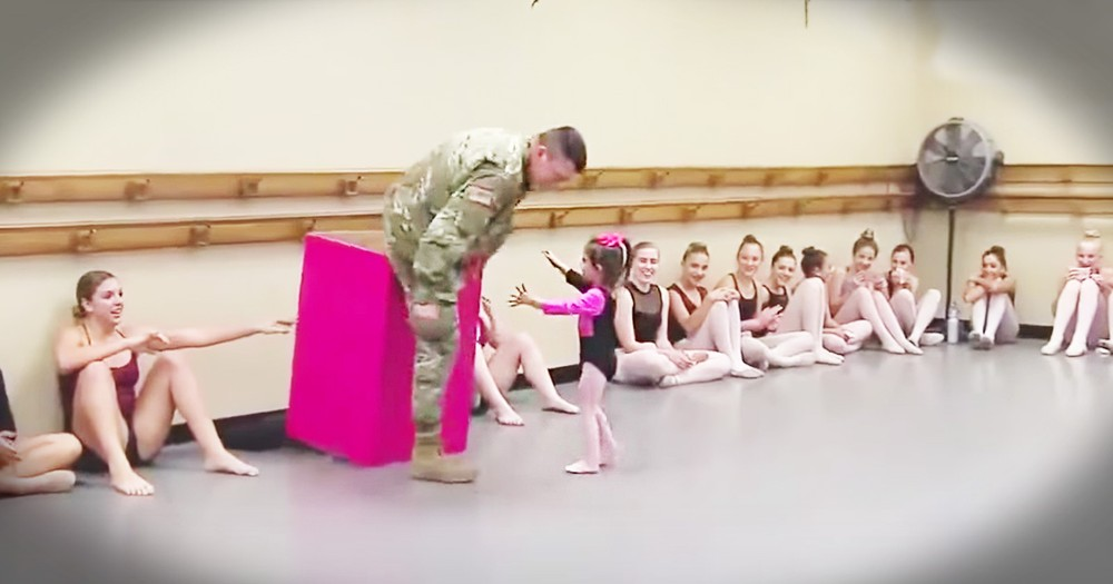 This Tiny Ballerina Just Got A Huge Surprise From Her Soldier Daddy Just In Time For Thanksgiving