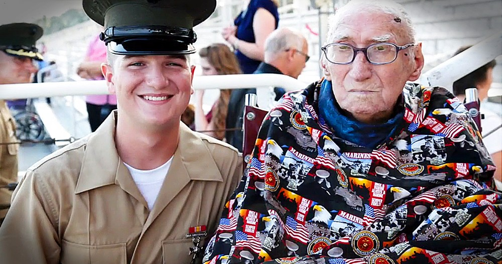94-Year-Old Veteran With 2 Weeks Left To Live Sees Marine Grandson Graduate