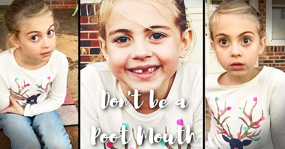 7-Year-Old Spreads Inspirational Message On Not Being A 'Poot Mouth'
