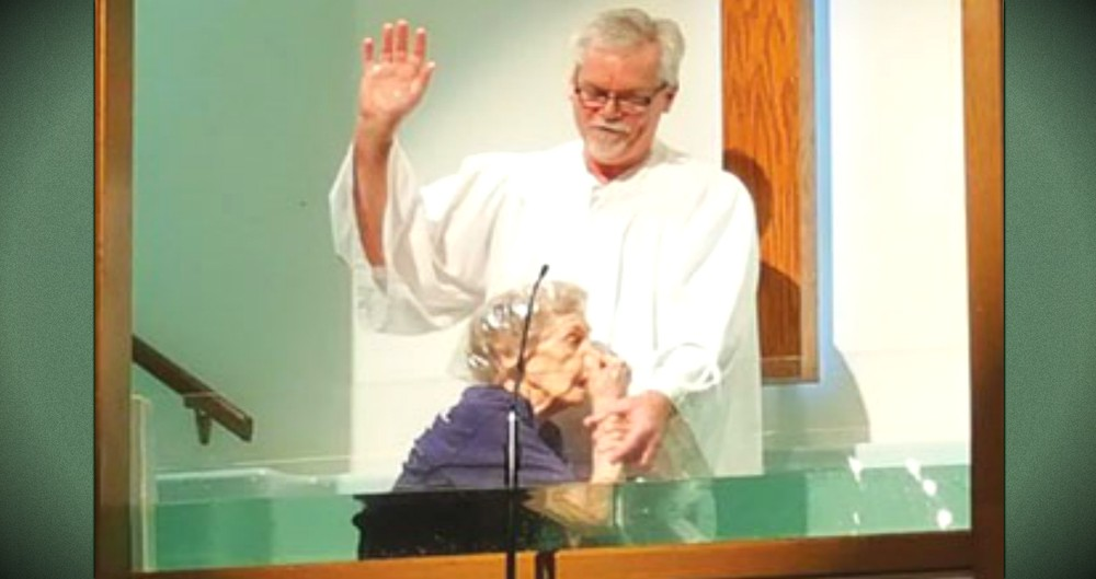 94-Year-Old Woman Baptized: It's Never Too Late To Become Christian