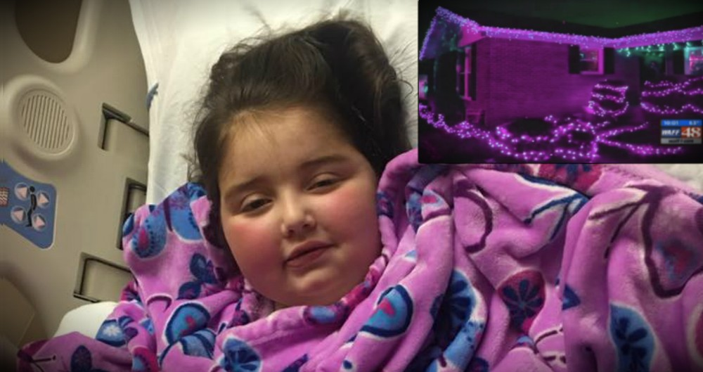 Neighbors Turn Street Purple Just Before A Sick Girl Heads To Heaven