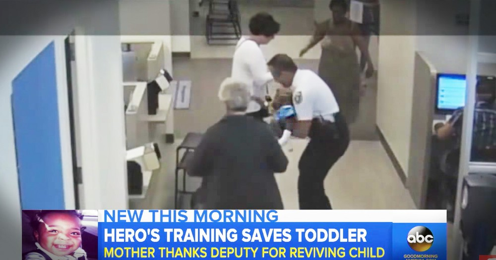 Panicked Mom Gets A Miracle When A Deputy Saved Her 15-Month-Old's Life