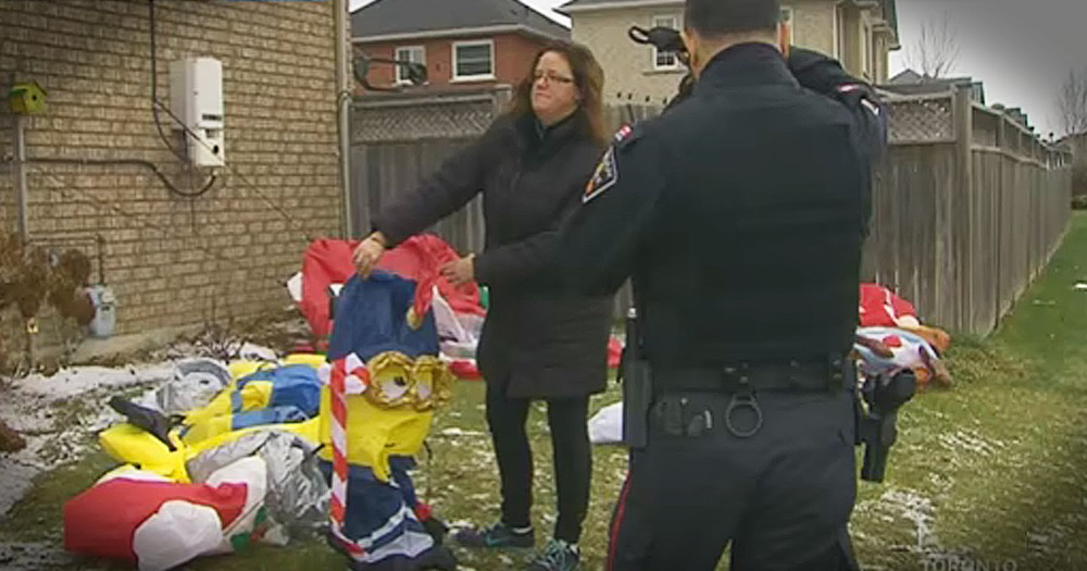 Neighbors Come Together To Help Woman After Her Christmas Decorations Are Vandalized