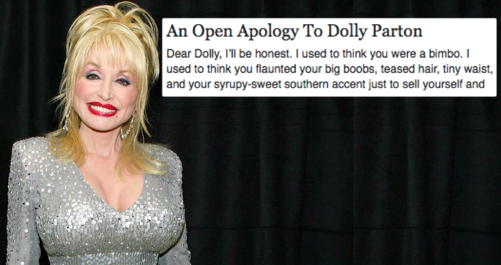 Woman Apologizes To Dolly Parton: 'I Used To Think You Were A Bimbo'