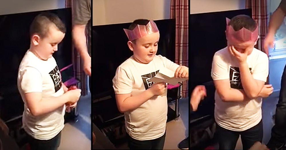 Little Boy Cries When He Finds Out He's Going To Be A Big Brother