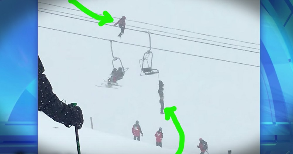 This Rescue Of A Man Hanging From A Ski Lift While Unconscious Is Miraculous