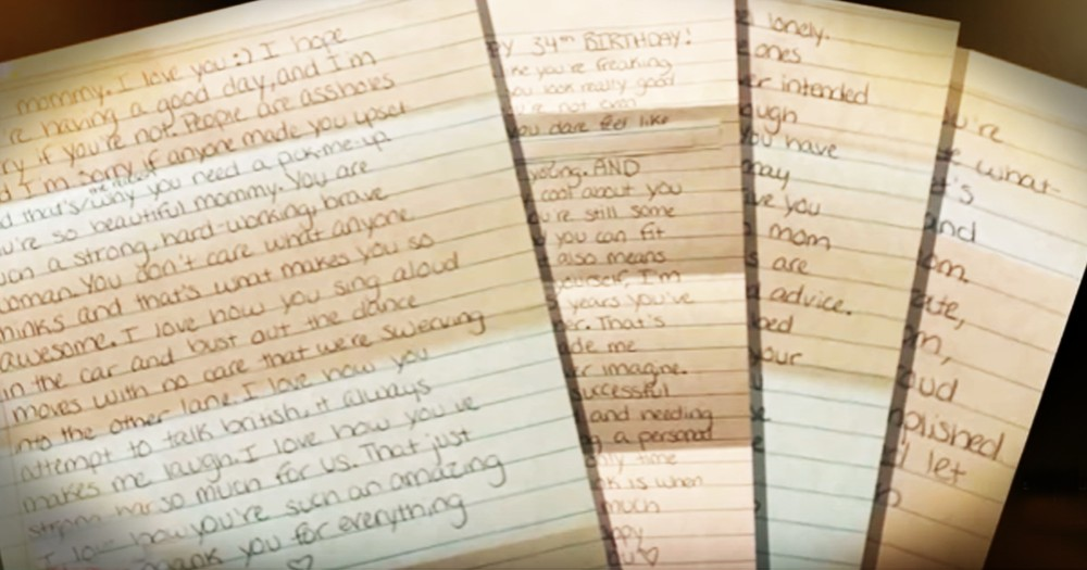 Grieving Mom Finds Letters Written By Her 16-Year-Old Daughter Before She Died
