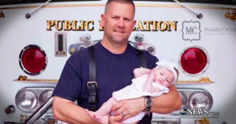 Firefighter Adopted The Baby Girl He Delivered After A 911 Call