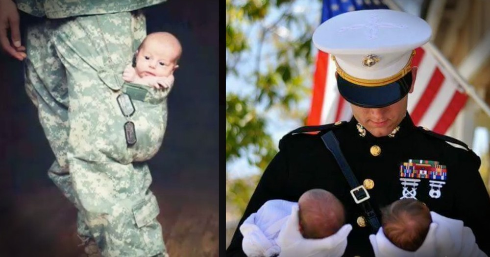 Photos Of Military Dads And Their Babies Reveal Extraordinary Relationships