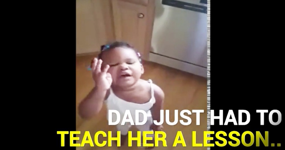 Dad Confronts His Daughter About A Missing Cupcake And It Leads To An Adorable Chase