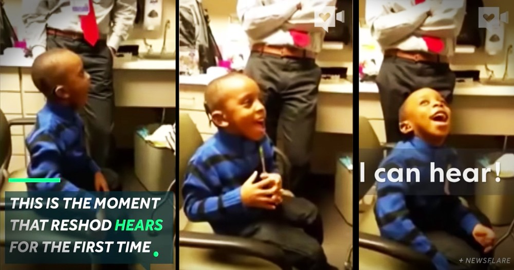 Little Boy's Reaction To Hearing For The First Time Is Adorable