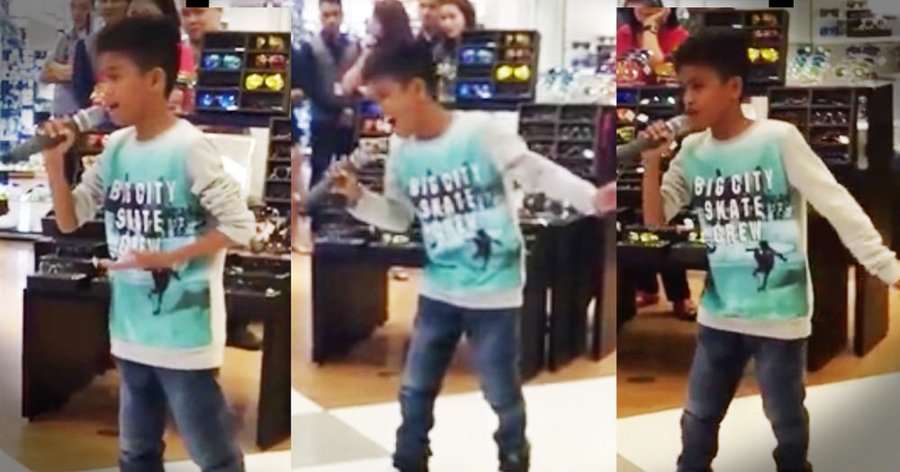 Little Boy With A Big Voice Wows Shoppers In This Impromptu Performance