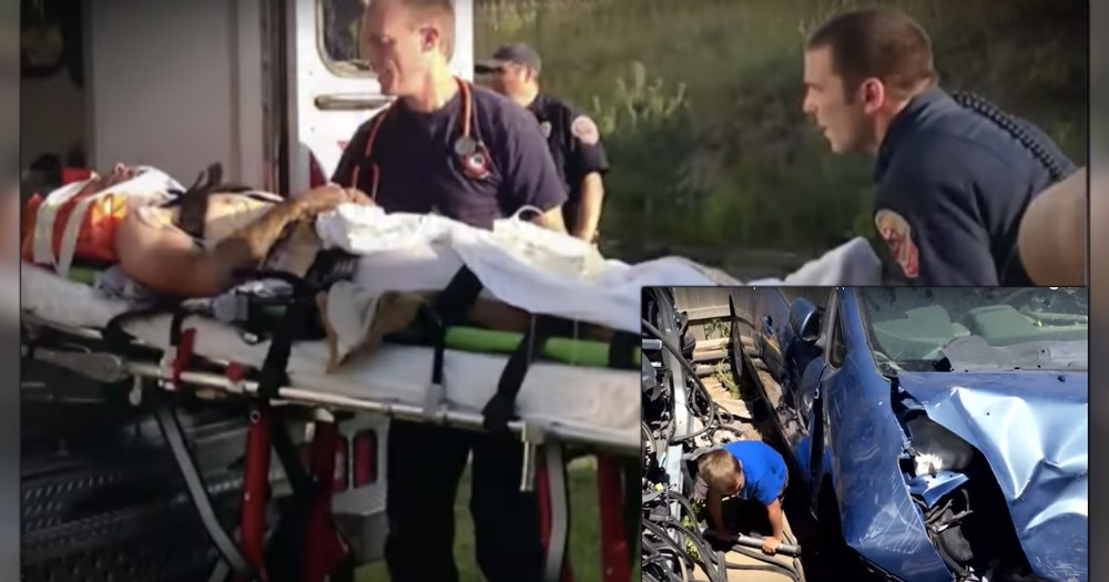 Angels Gave Little Boy Strength To Save Dad From Being Crushed By Car
