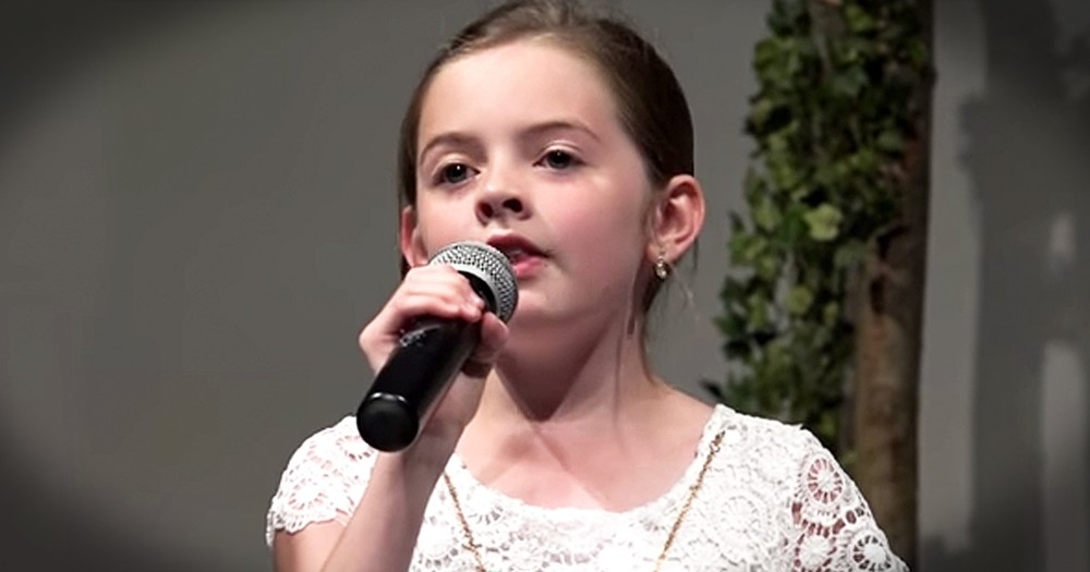 Young Girl Praises The Lord With Easter 'Hallelujah' And What An Angelic Voice