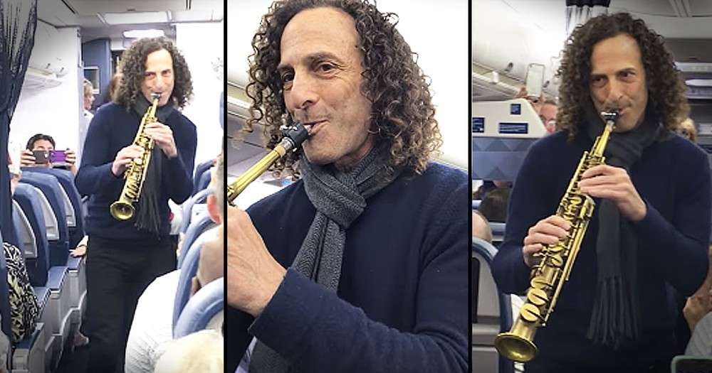 Kenny G Surprises Unsuspecting Airplane Passengers With Musical Serenade