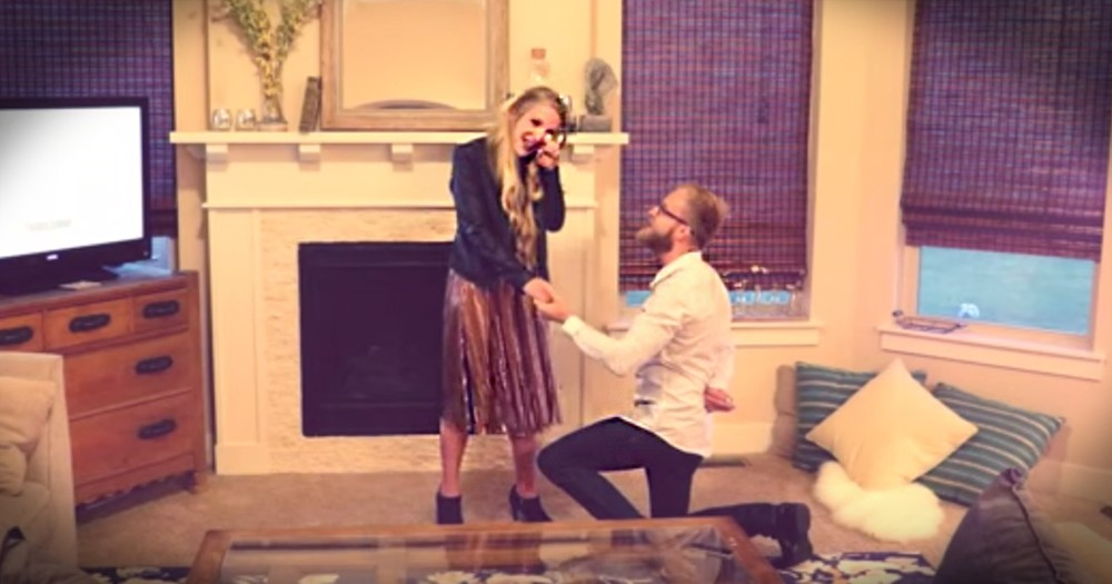 Husband Finally Proposes To Wife Of 10 Years And It's Precious