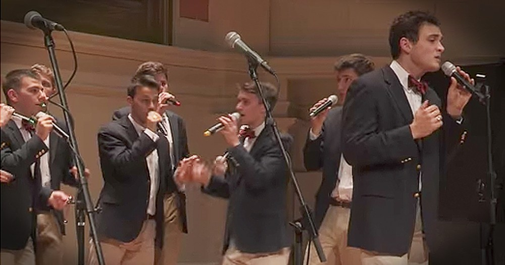 Gentlemen Choir Moves Crowd With A Cappella Rendition Of 'Lean On Me'