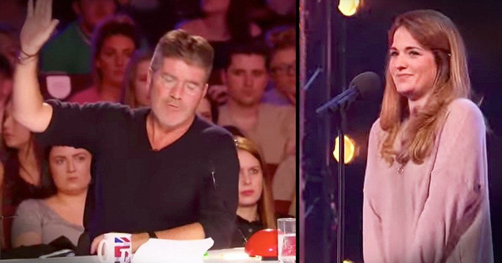 Simon Stops Nervous Mom But Then She Nails Her Audition