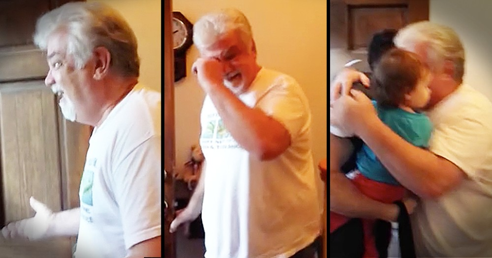 Grandpa Tears Up When He Meets His First Granddaughter