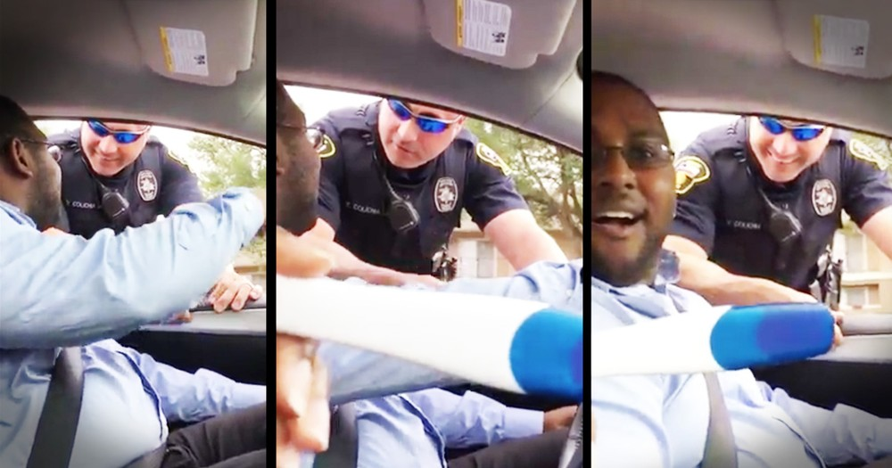 Cop Pulls Over Man for Baby Announcement