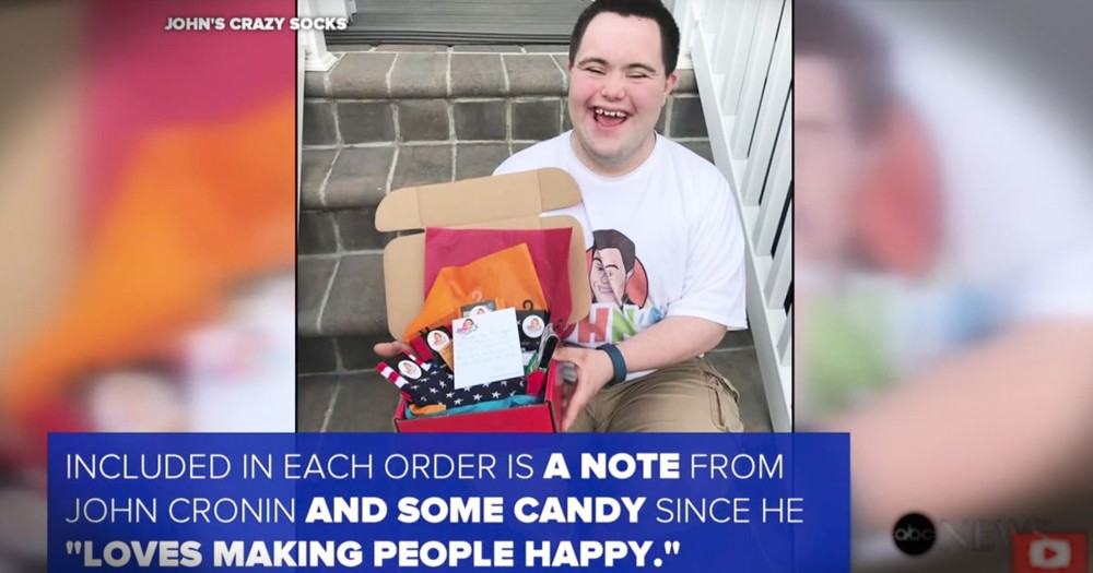 Young Man With Down Syndrome Is Spreading Smiles With His Wacky Socks