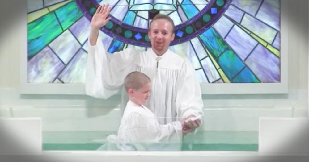 Boy's Baptism Goes Hilariously Wrong