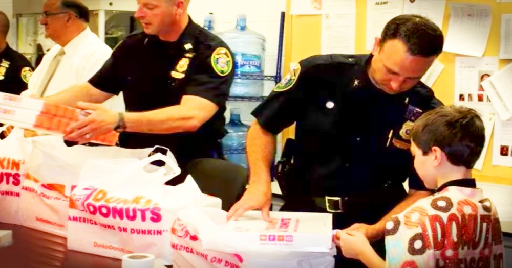 9-Year-Old Boy Travels The Country Giving Police Officers Donuts