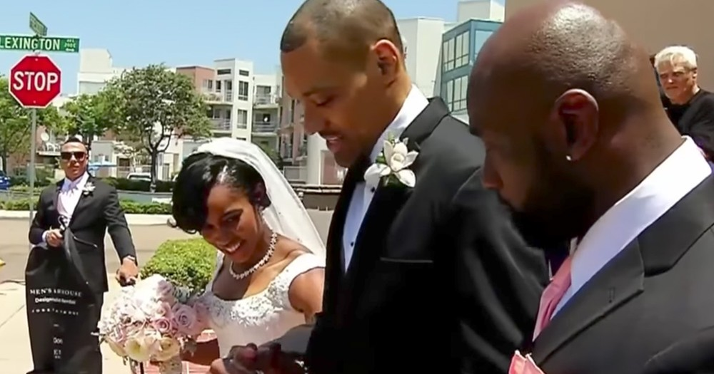Paralyzed Olympian Walks Down The Aisle With His Bride