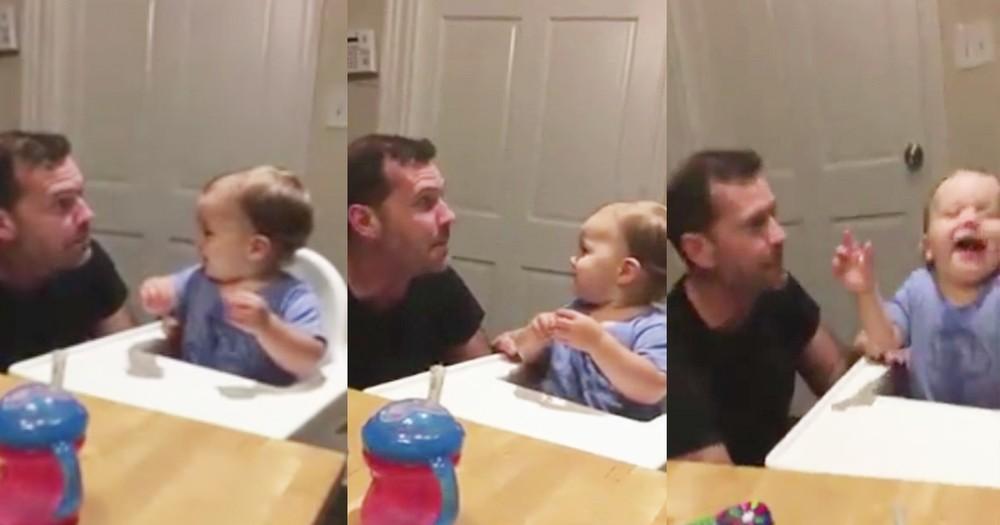 Baby Boy Dances Like Crazy When Dad Beatboxes