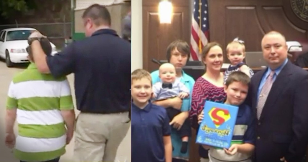 Police Officer Adopts Little Boy After Child Abuse Case