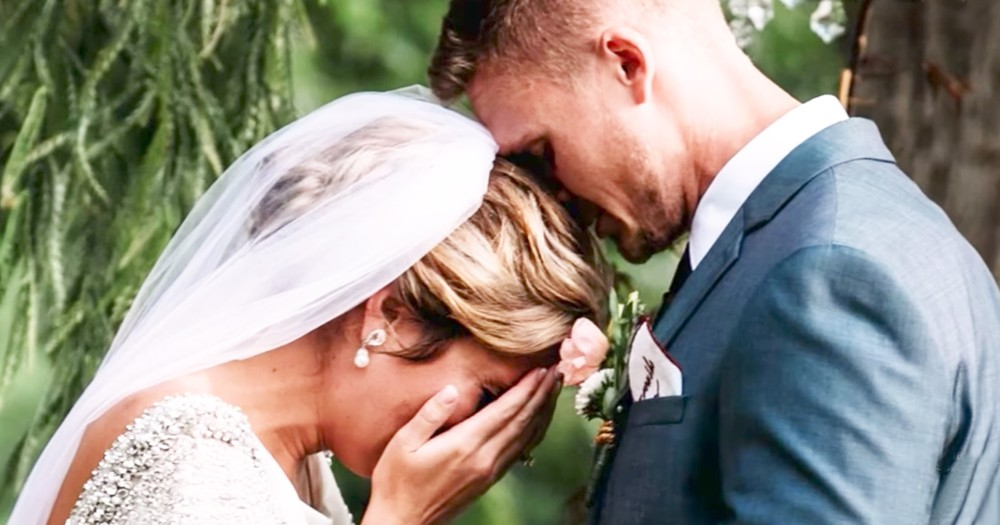 Bride Reacts After Hearing Deceased Grandfather's Voice At Her Wedding