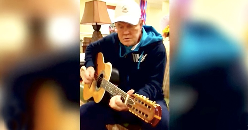 Glen Campbell Plays His Guitar During Final Days