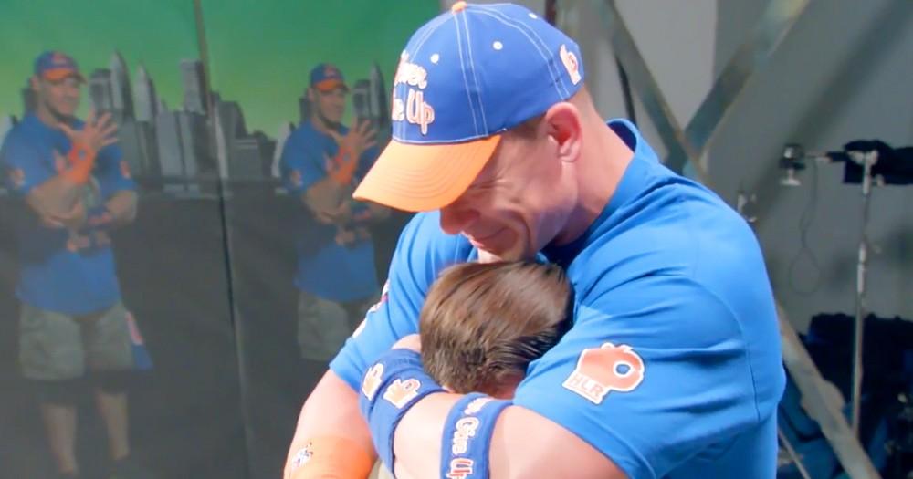 Wrestler John Cena Brought To Tears By Fans' Surprise