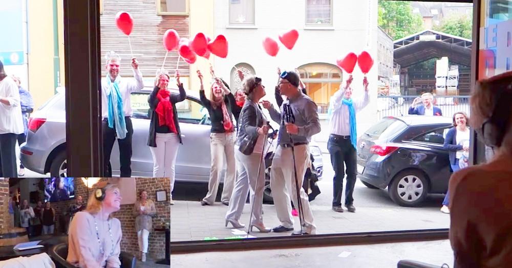 Epically Orchestrated Sidewalk Proposal Flash Mob