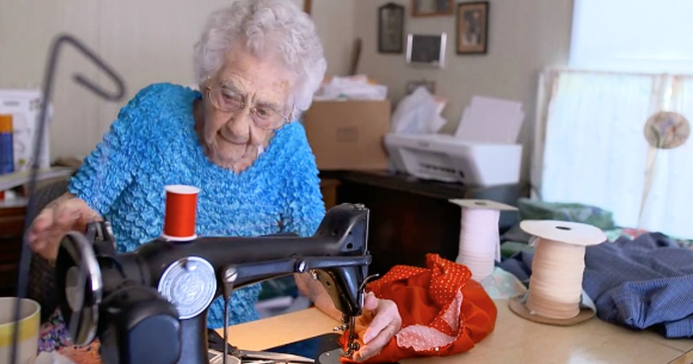 100-Year-Old Wakes Up At 3AM Every Day To Help Children She's Never Met