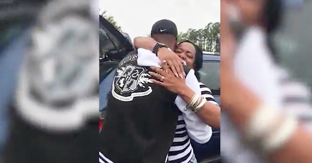 Mom Surprised By Navy Son's Epic Homecoming