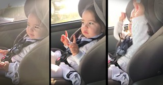 Little Girl Waiting For Her Favorite Part of the Song Is Too Cute
