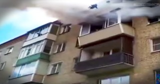 Strangers Save A Family Leaping From A Burning Building