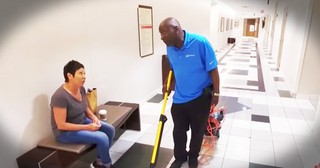 Freddy The Singing Janitor Spreads Smiles With Every Mop