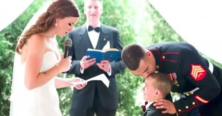 Adorable 4-Year-Old Cries As Bride Reads Him Special Vows