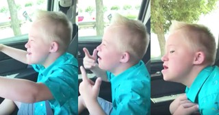 9-Year-Old Boy With Down Syndrome Passionately Sings Whitney Houston Song