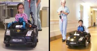 Hospital Kids Drive Adorable Miniature Luxury Cars To Procedures