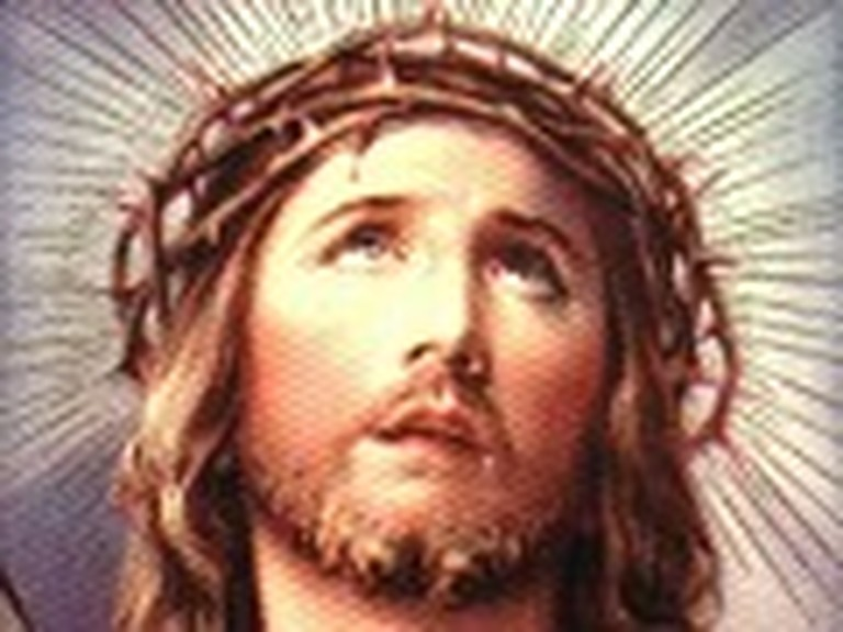 Vibrant Painting of Jesus with the Crown of Thorns